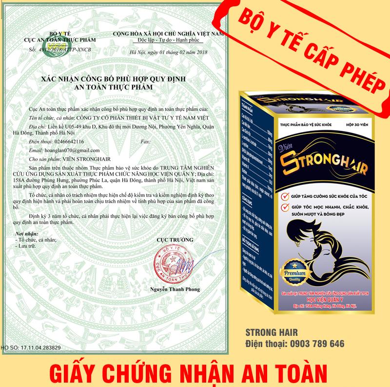 Xác nhận công bố phù hợp quy định an toàn thực phẩm của Bộ Y Tế.